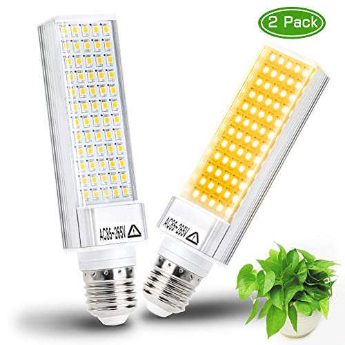 LED Grow Light Bulb for Indoor Plant, Haofy 60W E26 Base Led Plant Bulb, Full Spectrum Sunlike Grow Lamp Bulb for Indoor Plant Seedling Growing Blooming Fruiting (2PCS Replacement Growing Bulb)