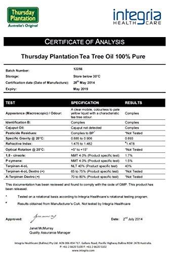 オーストラリア産ティーツリーオイル100%ピュア60ml