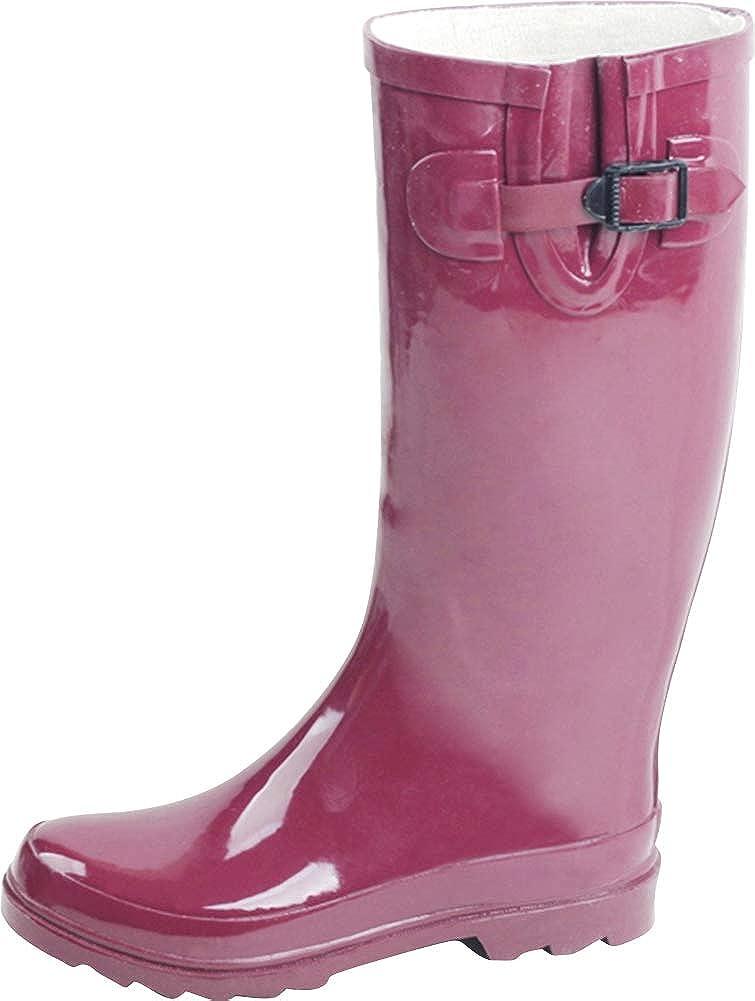 Cambridge Select Women's Dealing full price reduction Classic Waterproof Mid-Calf El Paso Mall Welly Rain