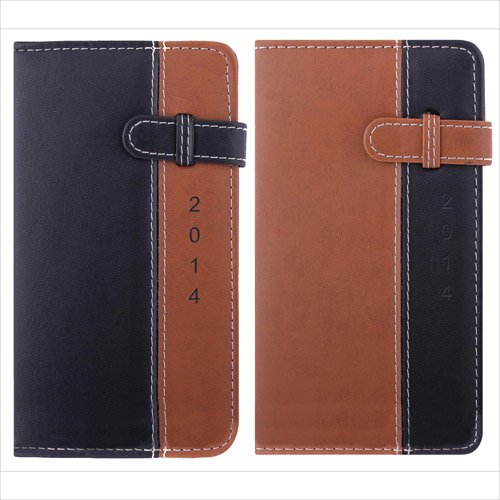 2014 Slim Diary, Day a Page , Brown Belt Tab