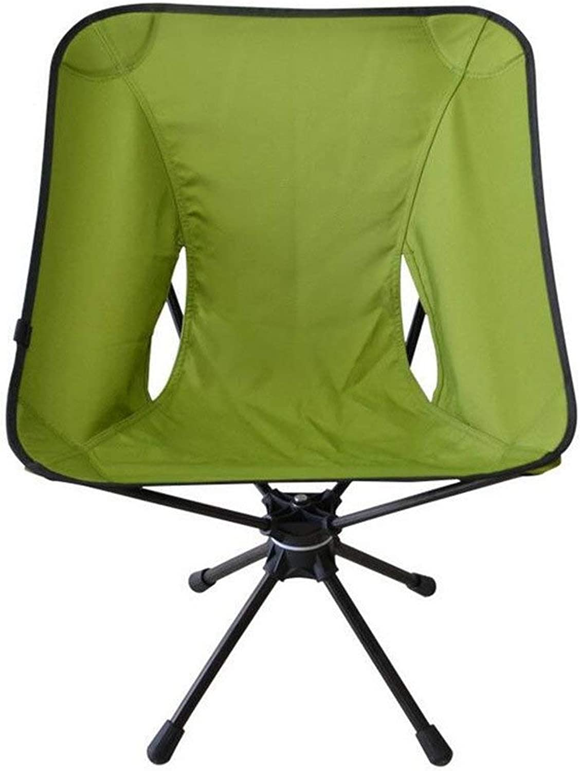 RUIMA 360° Foldable Camping and Sport Hunting Chair, Ultra Light Portable Fishing Camping Hiking Barbecue - Comfortable Folding Tufted Swivel Chair (color   Green)