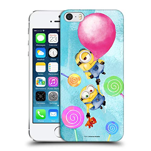 Official Despicable Me Bob and Stuart Bubble Watercolour Minions Hard Back Case Compatible for Apple iPhone 5 / iPhone 5s / iPhone SE 2016