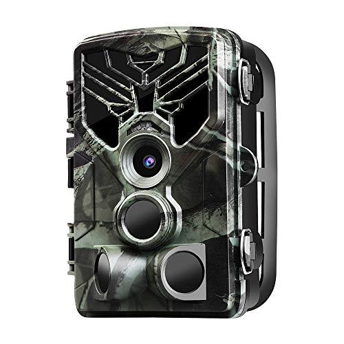 Boblov WiFi Fotocamera Caccia 20MP 1080P Impermeabile Fototrappola Infrarossi Invisibili Notturna App Remote