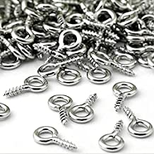 Retail 100 STKS Kleine Tiny Mini Eye Pins Oogje Connector Schroef Loops voor Hangers van 8 MM x 4 MM Metalen Eyepins Haken...