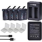 PowerTrust 4-Pack AHDBT-401 AHDBT401 Battery...