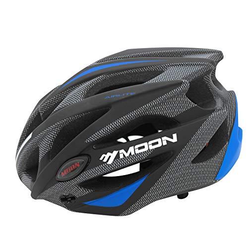 MOON Bike Helmet for Adult Road Cycling Helmet Mountain Bike Helmets Bicycle Helmets for Men and Women, Lightweight 25 Vents Removable Visor