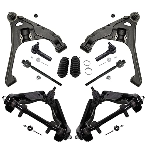 Detroit Axle - Front Upper & Lower Control Arm w/Ball Joints, Inner & Outer Tie Rod Ends w/Boots for 4WD 2000-2004 Dodge Dakota - [00-03 Dodge Durango 4x4]