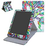 Kobo Aura H20 2nd Edition 2017 Funda,Mama Mouth case Funda Carcasa de cuero con soporte ajustable Modo para 6.8' Kobo Aura H20 2nd Edition 2017 Release,Love Tree