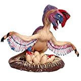 Flormoon Animal Figures Realistic Oviraptor Plastic Early Educational Toys Cupcake Topper Party Gift for Kids 2+ Year Old(Pink )