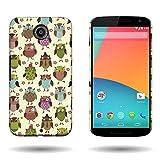 Nexus 6 Case, CoverON Design Premium Cover Slim Fit Protector Hard Case for Motorola Google Nexus 6 - Fancy Owls