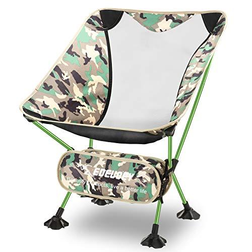 EDEUOEY ultraleicher Rucksack Campingstuhl: Tragbarer Camping Stuhl zum Reisen, Wandern und Angeln, Strandstuhl klappbar und faltbar, Alu Anglerstuhl für bis zu 230 Pfund Traglast, Outdoor Klappstuhl