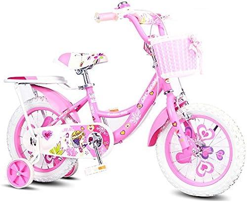 XQ Rosa Kinder fürrad Kinder fürrad Für 3-13 J ige Mit Abnehmbaren Stabilisatoren Durch Dash Mit Rücksitz