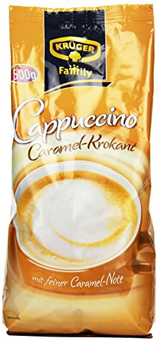 Krüger Family Caramel Krokant Cappuccino, 5er Pack (5 x 500 g Beutel)