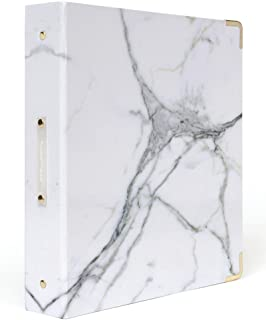russell+hazel Marble Patent Signature 3 Ring Binder