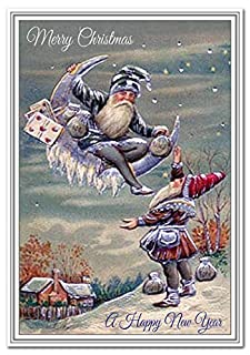 Elf Gnome Christmas Card Traditional