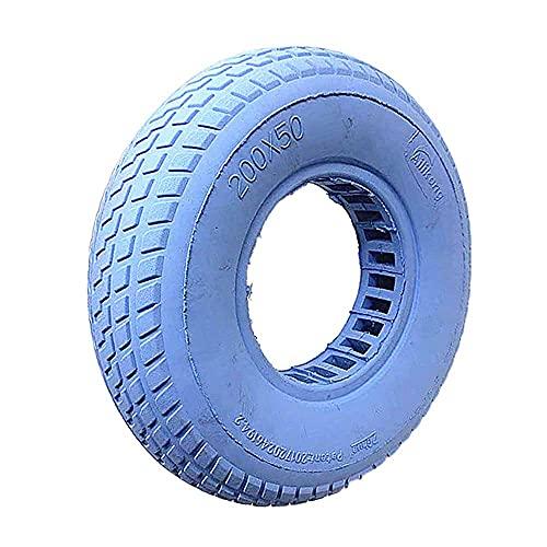 Solid Tire 200x50 Neumáticos de amortiguación Huecos y cómodos, Ruedas Desmontables de diámetro Interior de rodamiento de 10 mm, Accesorios de Rueda de 8 Pulgadas, Negro, Ruedas Completas