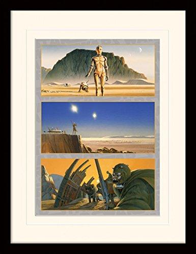 1art1 Star Wars - Tatooine: The Saga Begins Gerahmtes Bild Mit Edlem Passepartout | Wand-Bilder | Kunstdruck Poster Im Bilderrahmen 40 x 30 cm