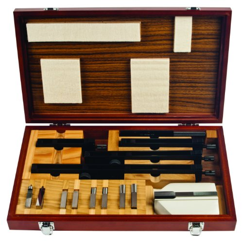 Mitutoyo 516-602, Rectangular Gage Block Accessories Set, Metric, 14 Pieces