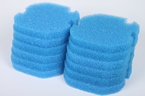 LTWHOME Compatible Bleu Grossier Mousseux Filtration Convient pour AquaManta EFX 200 Filtre Extérieur (Paquet de 12)