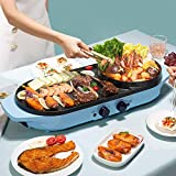 Aparatos eléctricos, Coreano Cubierta BBQ Grill eléctrico sin Humo, Barbacoa eléctrica Pot, Teppanyaki Parrillas, for encimeras de Cocina/Plinths jianyou