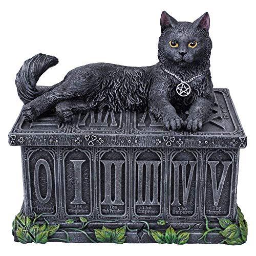 Nemesis Now, Tarot-Box des Wächters des Glücks, 17 cm, Schwarz, Kunstharz, Einheitsgröße