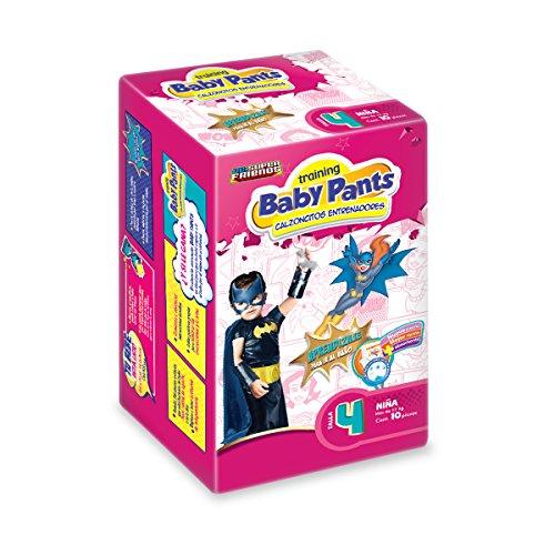 Baby Pants Calzón Entrenador, Talla 4 Niña, 60 Calzoncitos Desechables (6x10)