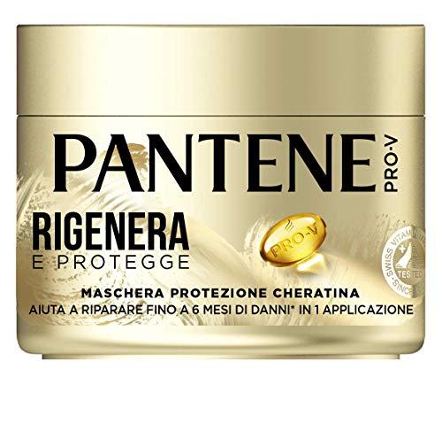 Pantene Pro-V Maschera Rigenera e Protegge, Protezione Cheratina Deboli e Danneggiati, 300 ml