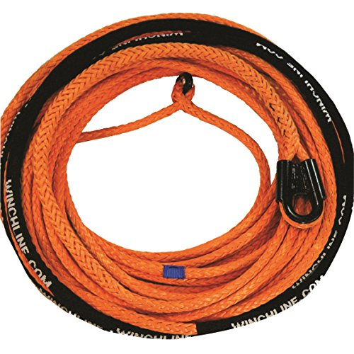 Why Should You Buy 3/8 x 100' Orange Synthetic Rope Winch Line with Gusseted Tube Thimble