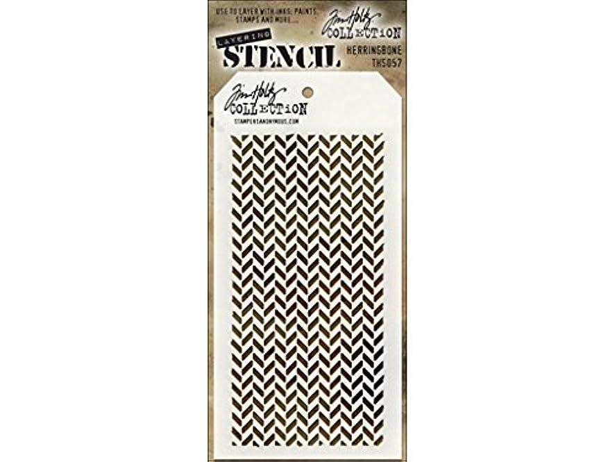 Stampers Anonymous Tim Holtz Herringbone Layering Stencil