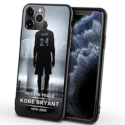 Bryant - Funda para iPhone X/XS, XR, XS Max, color negro Mamba transparente ultra delgada suave Shell TPU Anti-caída Memorial Bryant Cover H- XR