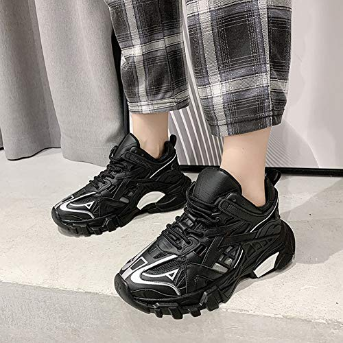 Women shoes Clunky Sneaker Thick shoelace Hollow out Breathable Casual shoes
