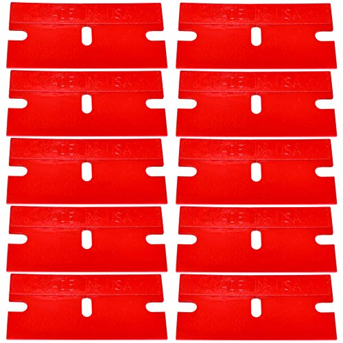 Shark Industries PN-66 Plastic Razor Scraper Blades, Removes Paint, Adhesives & Decals Without Damaging Surfaces (10 Plastic Blades)