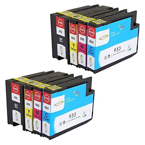 Win-TinTen 932 933 Compatibile Sostituzione di 9 pacchi per cartuccia d'inchiostro HP 932XL 933XL per HP Officejet 6100 6600 6700 7110 7610 7612 Stampanti.