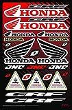KIT STICKERS FOX CRF ADESIVI SPONSOR MOTO COMPATIBILE PER HONDA YAMAHA KTM CROSS ENDURO CASCO (31)