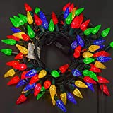 Twinkle Star C6 Christmas String Lights, 100 LED 33ft Fairy Lights with 29V Safe Adaptor, Indoor Outdoor 8 Lighting Modes for Patio Xmas Tree Wedding Party Decor, Multicolor