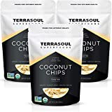 Terrasoul Superfoods Organic Toasted Coconut Chips, Pack of 3 (2.25 Lbs) - Unsweetened | Unsalted | Perfectly Toasted Coconut