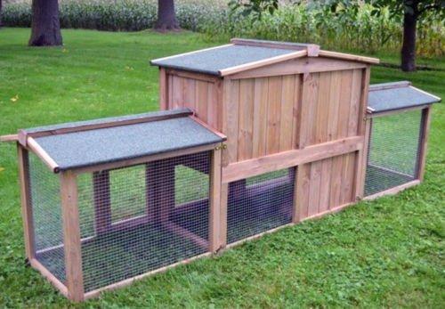"""ZooPrimus Kleintier-Stall Nr 2 XXL Kaninchen-Käfig """"DR. HASE"""" Meerschweinchen-Haus für Außenbereich (Geeignet für Kleintiere: Hasen, Kaninchen, Meerschweinchen usw.) - 6"""