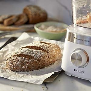 Philips Cuisine Viva Collection Philips Robot de cuisine HR7530/00, multifonction avec mixeur, hachoir et presse-agrumes, 850 W, capacité 2,1 L, acier inoxydable, inoxydable