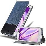 Cadorabo Funda Libro para Samsung Galaxy S3 / S3 Neo en Azul Oscuro Negro - Cubierta Proteccíon con Cierre Magnético, Tarjetero y Función de Suporte - Etui Case Cover Carcasa