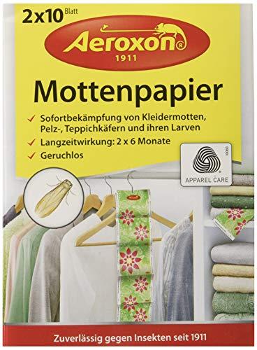 Aeroxon Mottenpapier 2x10 Blatt, Mehrfarbig, 18x13x4 cm