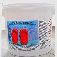 Lapi - 10 Kg Cloro 4 Azioni nuovo prodotto 2014 ex Tripla Azione In Pastiglie 200 Gr. Alghicida Clorante Stabilizzante e...