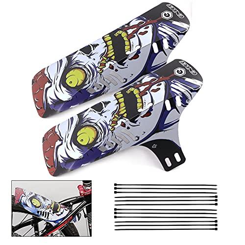 GoHZQ Fahrrad Schutzblech 2pcs Mudguard Mountainbike Vorne und Hinten kompatibel 26