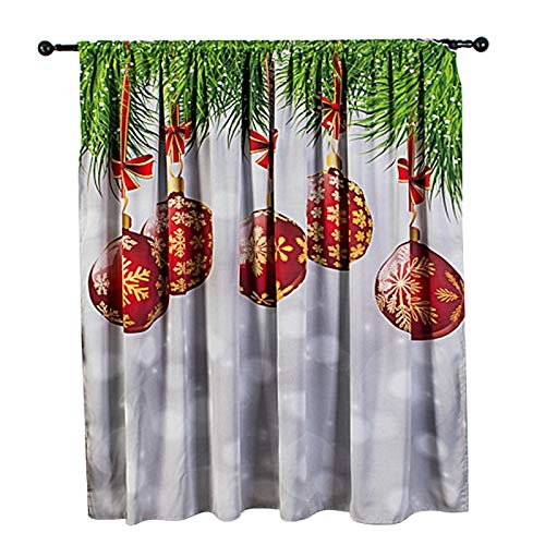 Omabeta Świąteczna dekoracja zasłona okienna wodoodporna zasłona poliester marzycielski wzór zasłona na przyjęcie dekoracja domu 140 x 130 cm (śnieżna)