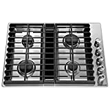 KitchenAid KCGD500GSS 30' 4 Burner Stainless Steel Gas Downdraft...