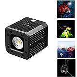 fotowelt Cube LED-Videolicht mit 1/4' 20 Schraubenloch Unterwasser Videoleuchte Campingbeleuchtung Wasserdicht 20m für DSLR, Digitalkamera,DJI-Drohne und Action-Kamera, 8W
