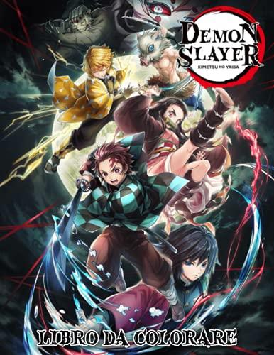 Demon Slayer Kimetsu no Yaiba Libro da colorare: Manga Rilassante e Stile Anime per Adulti e Bambini
