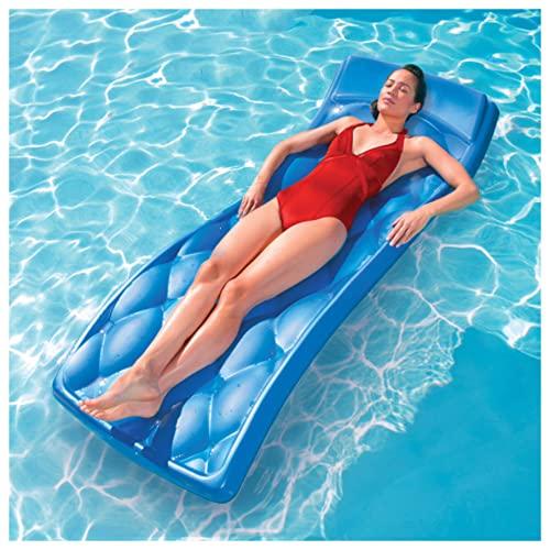 SwimWays Aquaria Avena Lounge Cell Foam Pool Float - Blue