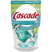 Cascade 4x Concentrated New Zealand Springs Scent Actionpacs 32 Count