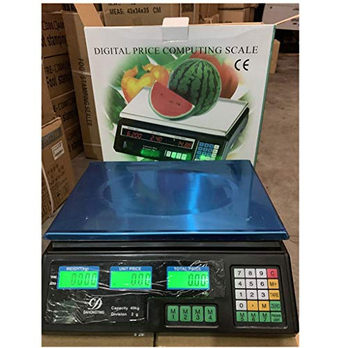 ZCXBHD elektronische prijsrekenweegschaal, platformweegschaal met LED-indicator markeren, roestvrij staal digitale wegen post industrie commerciële verkoop weegschaal