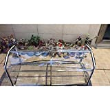 Gzhenh Invernadero Transparente Impermeable A Prueba De Viento con Cremallera Patio Flores Lona Impermeable, 7 Tamaños (Color : Claro, Size : 120x40x50cm)
